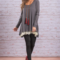 The Weekend Tunic, Charcoal