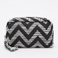 Zig Zag Tapestry Cosmetics Case in Black and White - Urban Outfitters