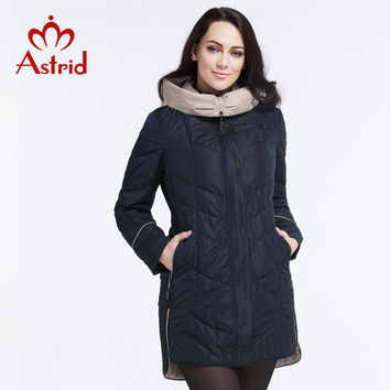 Astrid 2016 Women's winter jacket Casual Fashion Women Parka High-Quality Female Hooded Coat Brand Parka Plus Size 5XL AM-5810-1
