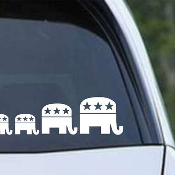 Republican Family Children Die Cut Vinyl Sticker