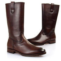 SHOEPASSION.com – Goodyear-welted Half-Boot in dark brown