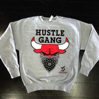 Chicago Bulls Crewneck Sweatshirt in Cool Grey