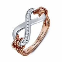 925 Sterling Silver Infinity Love Promise Ring