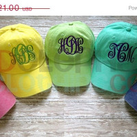 SALE MONOGRAMMED Baseball Hat for Kids, Monogram Baseball Hat, Personalized Baseball Cap for Children, Birthday Gift, youth