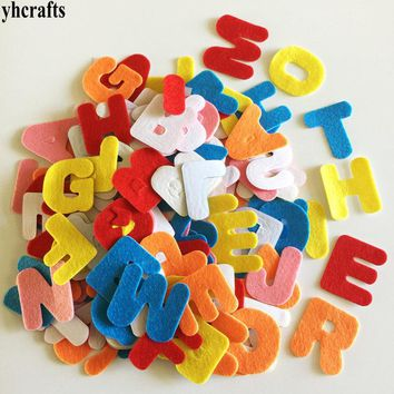 150PCS/LOT.A-Z fabric stickers,Alphabet Letter felt sticker Teach your own Color English self learning Kindergarten crafts OEM