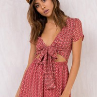 Lulabelle Tie Front Playsuit