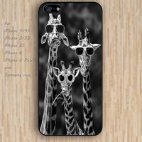 iPhone 5s 6 case colorful Funny giraffe giraffe wearing glasses phone case iphone case,ipod case,samsung galaxy case available plastic rubber case waterproof B398