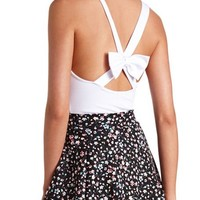 Bow-Back Tank Bodysuit