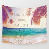 Summer Days, Hot Nights. Wall Tapestry by Sara Eshak