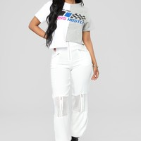 Don't Touch Me Pants - White