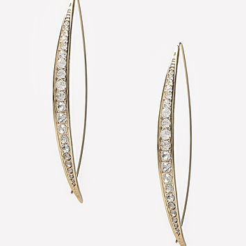 bebe Womens Crystal Lined Earrings Crystal In Gold
