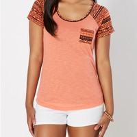 Tribal Pocket Baseball Tee