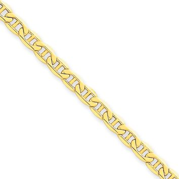 4.1mm, 14k Yellow Gold, Hollow Anchor Link Chain Necklace, 18 Inch