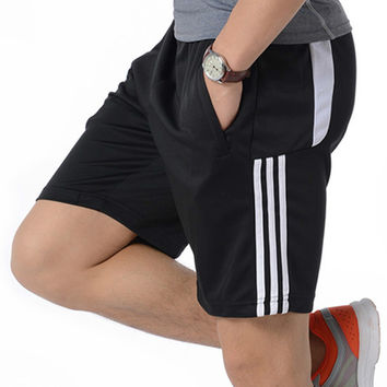 2017 New Men's Short homme Sporting Shorts men brand clothing Elastic Waist Gyms Shorts Large size