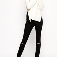 Josephine Black Distressed Jeans