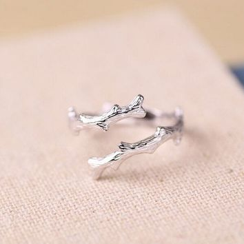 925 Sterling Silver Tree Branch Ring