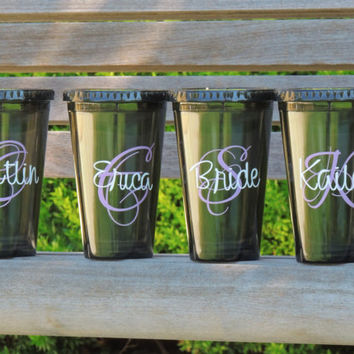 personalized tumbler, monogrammed cup, 16 oz cup, acrylic cup, cup with straw, wedding cups, bridesmaid cup, bachelorette party cup, holiday