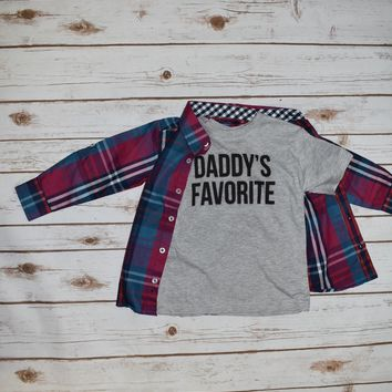 Kids Daddy's Favorite tshirt