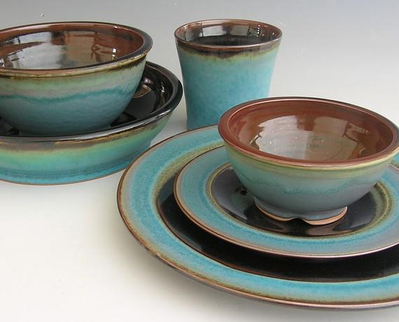 Rustic Turquoise Brown Bathroom Accessories