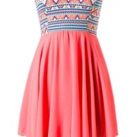 Tribal Chiffon Dress