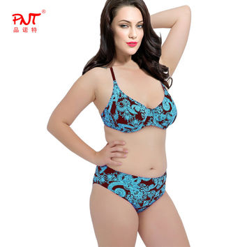PNT 2016 Sexy women's swimwear women bikini top Push Up Bikini Set swimsuit women Sexy plus size High Waisted bikini women 2016