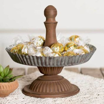 Fluted Cupcake Stand with Base