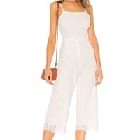 BEACH RIOT Savannah Jumpsuit in White Lace | REVOLVE