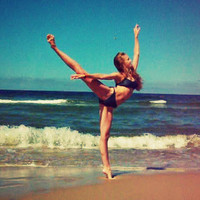 arms, awesome, ballet, beach - inspiring picture on Favim.com