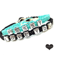 Pssst I Love You Couples Bracelets