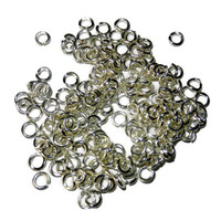 5 mm Silver Jump Rings, 200 Pieces