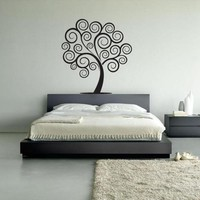 Wall Vinyl Decal Sticker Bedroom Decal Wall Decal Tree Tribal Circle Fashion  z293