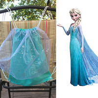 Disney's Frozen Elsa Inspired Drawstring Bag