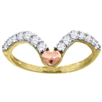 Round Cut CZ Fashion / Promise Ring in 10k Yellow Gold