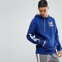 Tommy Jeans Nautical Logo Hoodie in Blue at asos.com