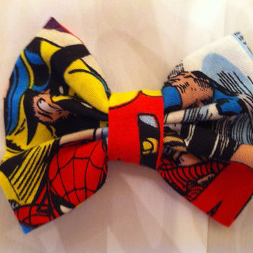 Wolverine Small Fabric Hair Bow Marvel XMen by StylishGeek on Etsy