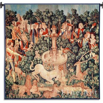 Medieval Hunt of the Unicorn is Found Wall Tapestry, Assorted Sizes