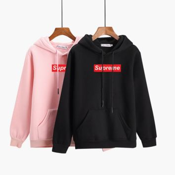 Fashion Unisex Couple's Supreme Top Sweater Pullover Sweatshirt Hoodie