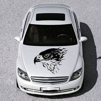 TRIBAL EAGLE BIRD WINGS DESIGN HOOD CAR VINYL STICKER DECALS GRAPHICS ART SV4902