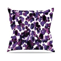 "Ebi Emporium ""Giraffe Spots - Purple"" Lavender Throw Pillow"