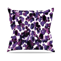 "Ebi Emporium ""Giraffe Spots - Purple"" Throw Pillow, 18"" x 18"" - Outlet Item"