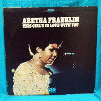 Vintage 70s Aretha Franklin This Girl's In Love With You Vinyl Record LP