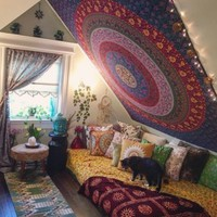 decoration home tapestry mandala hippie bohemian wall tapestries bedspread