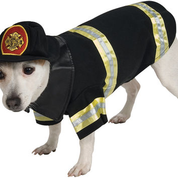 pet costume: firefighter