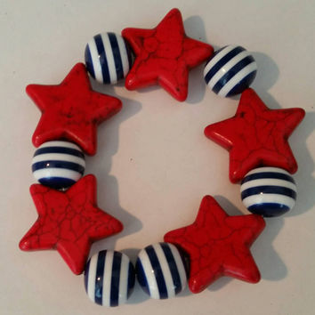Betsy's Jewelry - Bracelet - 4th of July - Novelty - Independence Day - Holiday Style