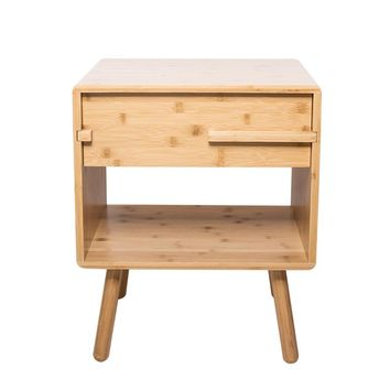 ZEN'S BAMBOO Night Table Bedroom Nightstand Storage Drawer Bedside Cabinet Living Room Home Furniture