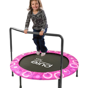 Pink Kids Super Jumper Trampoline