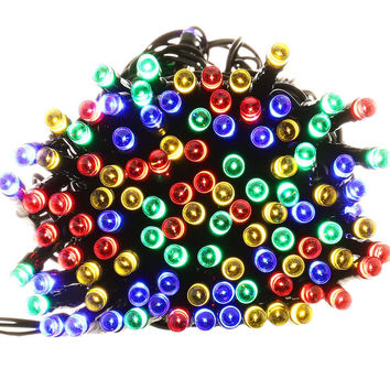 High Quality Waterproof lederTEK 200 LED 8 Modes Solar Fairy String Lights For Outdoor Garden LED String Solar Light