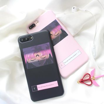 Sailor Moon hard phone Cases For iphone 6 6s 6plus 7 7Plus Girl style hard plastic case back cover for iphone 6 case