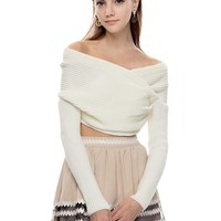 Get Knotty Ivory Cropped Sweater