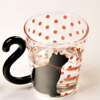 Glass Cat Mug For Cup Coffee, Tea Or Soup